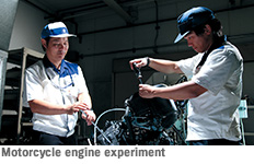 Motorcycle engine experiment
