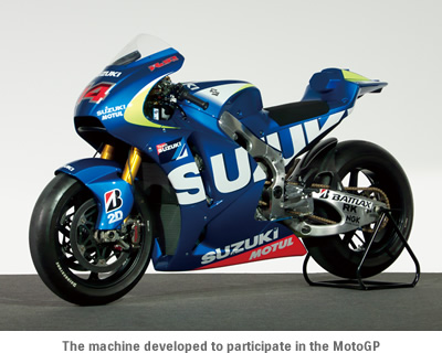 The machine developed to participate in the MotoGP