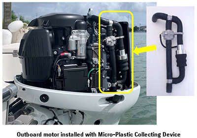 Outboard motor installed with Micro-Plastic Collecting Device