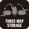 THREE-WAY STORAGE