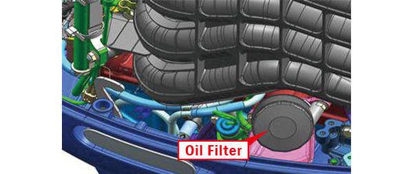 Easy access Oil filter