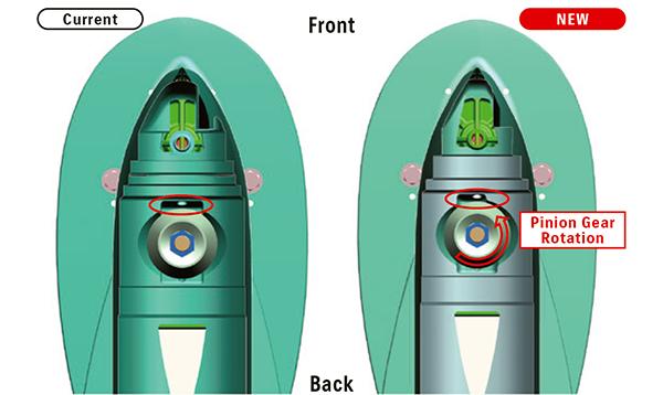 Gear case (Bottom View